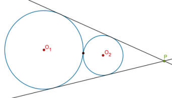 Two direct common tangents type 2