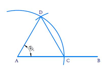 Construct an equilateral triangle, given its side and justify the construction