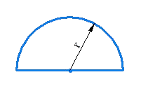 Area and Perimeter of semi-circle