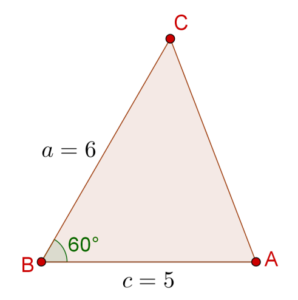 Cosine law example