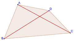 Quadrilateral with diagonals