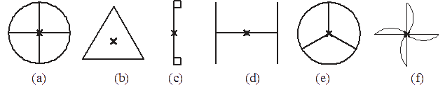 Which of the following figures have rotational symmetry more than 1:
