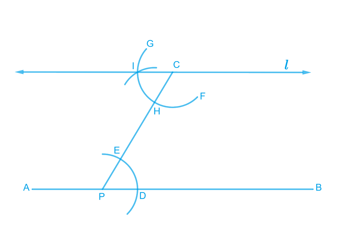 Draw a line, say AB, take a point C outside it. Through C, draw a line parallel to AB using a ruler and a compass only.