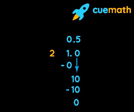 1/2 as decimal