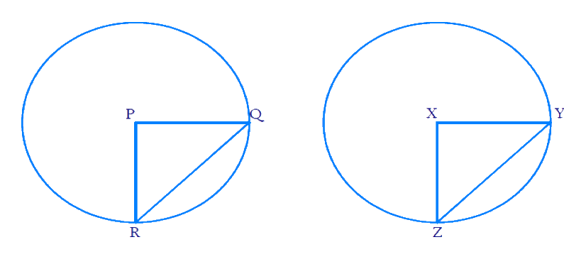Recall that two circles are congruent if they have the same radii. Prove that equal chords of congruent circles subtend equal angles at their centers.