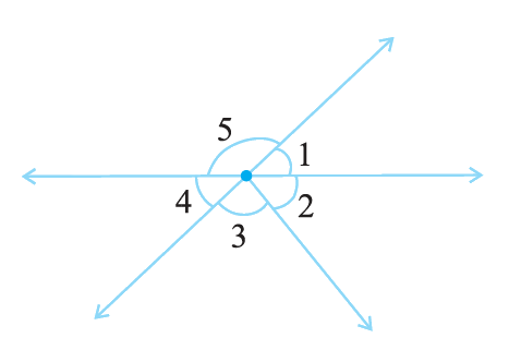 Indicate which pairs of angles are: (i) Vertically opposite angles (ii) Linear pairs