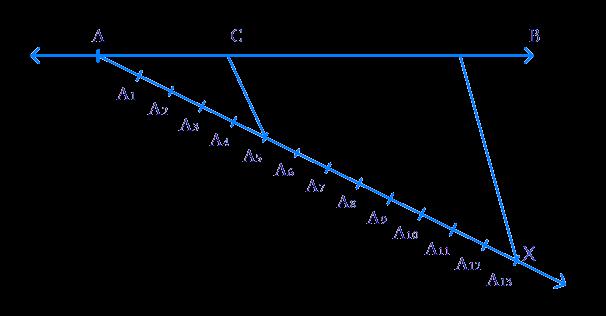 line segment of length 7.6 cm and divide