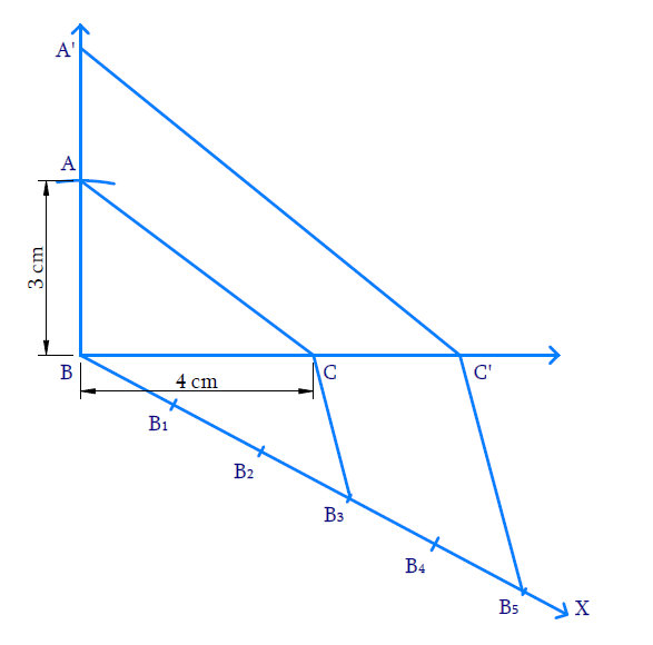 Draw a right triangle in which the sides
