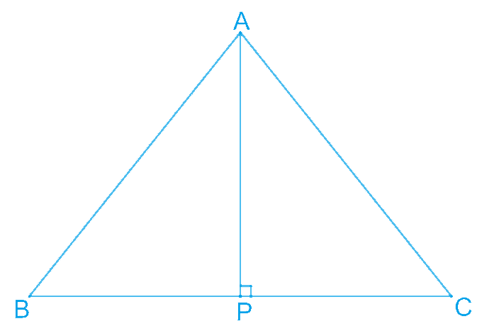 ABC is an isosceles triangle with AB = AC. Draw AP ⊥ BC to show that ∠B = ∠C