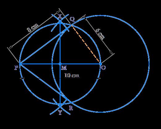 Draw a circle of radius 6 cm
