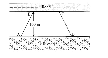 Mohan wants to buy a trapezium shaped field. Its side along the river is parallel to and twice the side along the road.