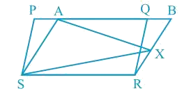 In Fig. 9.17, PQRS and ABRS are parallelograms and X is any point on side BR. Show that (i) ar (PQRS) = ar (ABRS) (ii) ar (AXS) = 1/2 ar (PQRS)