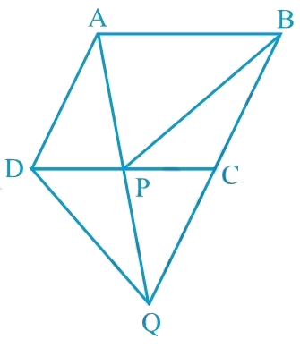 In Fig. 9.32, ABCD is a parallelogram and BC is produced to a point Q such that AD = CQ. If AQ intersect DC at P, show that ar (BPC) = ar (DPQ). [Hint: Join AC.]