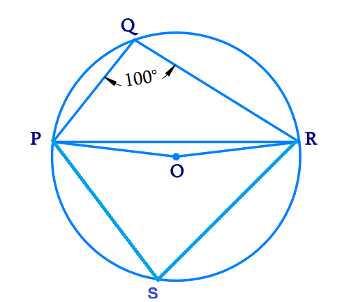 P, Q and R are points on a circle with center O