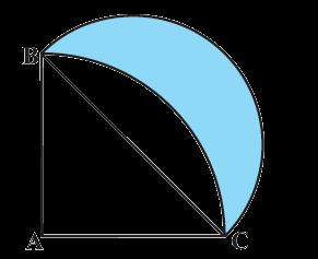 In Figure, ABC is a quadrant of a circle of radius 14 cm