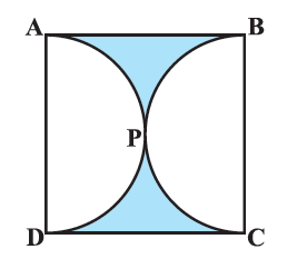 Find the area of the shaded region in the given figure