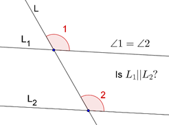 Corresponding angles axiom