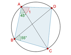 Angles of cyclic quadrilateral