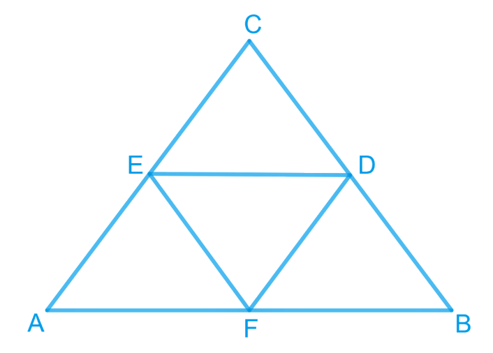E and F are respectively the mid-points of the sides BC, CA and AB of a ABC