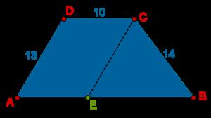 Trapezium = Parallelogram + Triangle