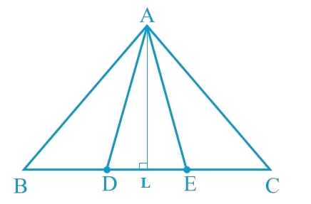 In Fig. 9.30, D and E are two points on BC such that BD = DE = EC. Show that ar (ABD) = ar (ADE) = ar (AEC).