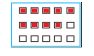 Shade: i) 1/2 of the circles in box (a) ii) 2/3 of the triangles in box (b) iii) 3/5 of the squares in box (c)