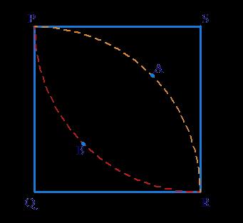 Square and quadrant of a circle