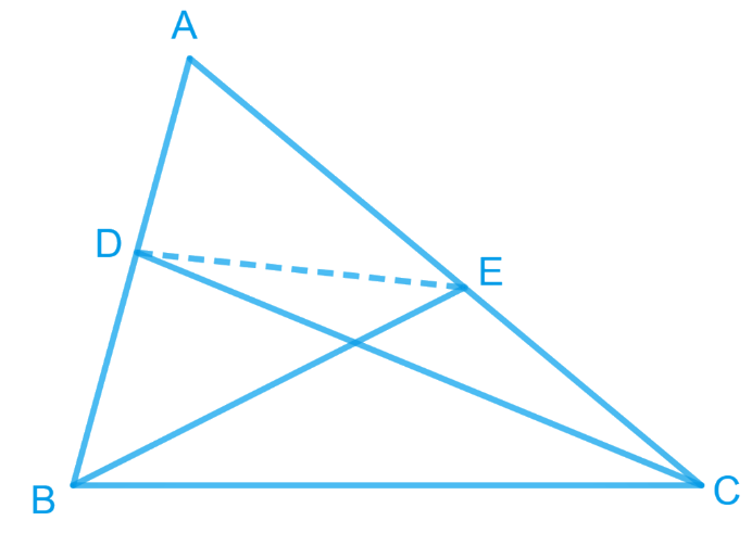 D and E are points on sides AB and AC respectively of ∆ ABC such that ar (DBC) = ar (EBC). Prove that DE || BC