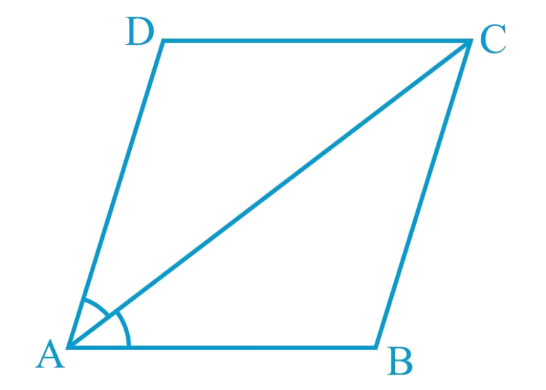 Diagonal AC of a parallelogram ABCD bisects ∠A (see Fig. 8.19). Show that i) It bisects ∠C also, ii) ABCD is a rhombus