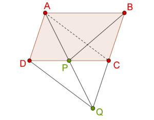 Parallelogram and Triangles intersecting