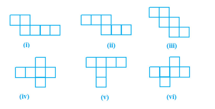 Identify the nets which can be used to make cubes (cut out copies of the nets and try it):