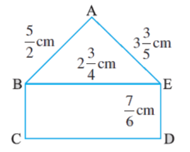 Find the perimeters of (i) ∆ABE (ii) the rectangle BCDE in this figure. Whose perimeter is greater?