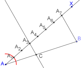 Line parallel to side of a triangle