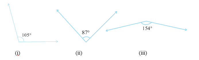 Find the supplement of each of the following angles: