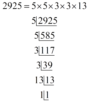 Prime factors of 2925