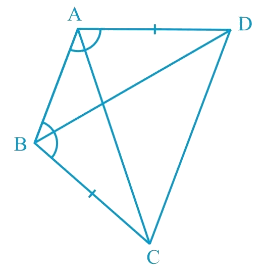 ABCD is a quadrilateral in which AD = BC and ∠DAB = ∠CBA (see Fig. 7.17)