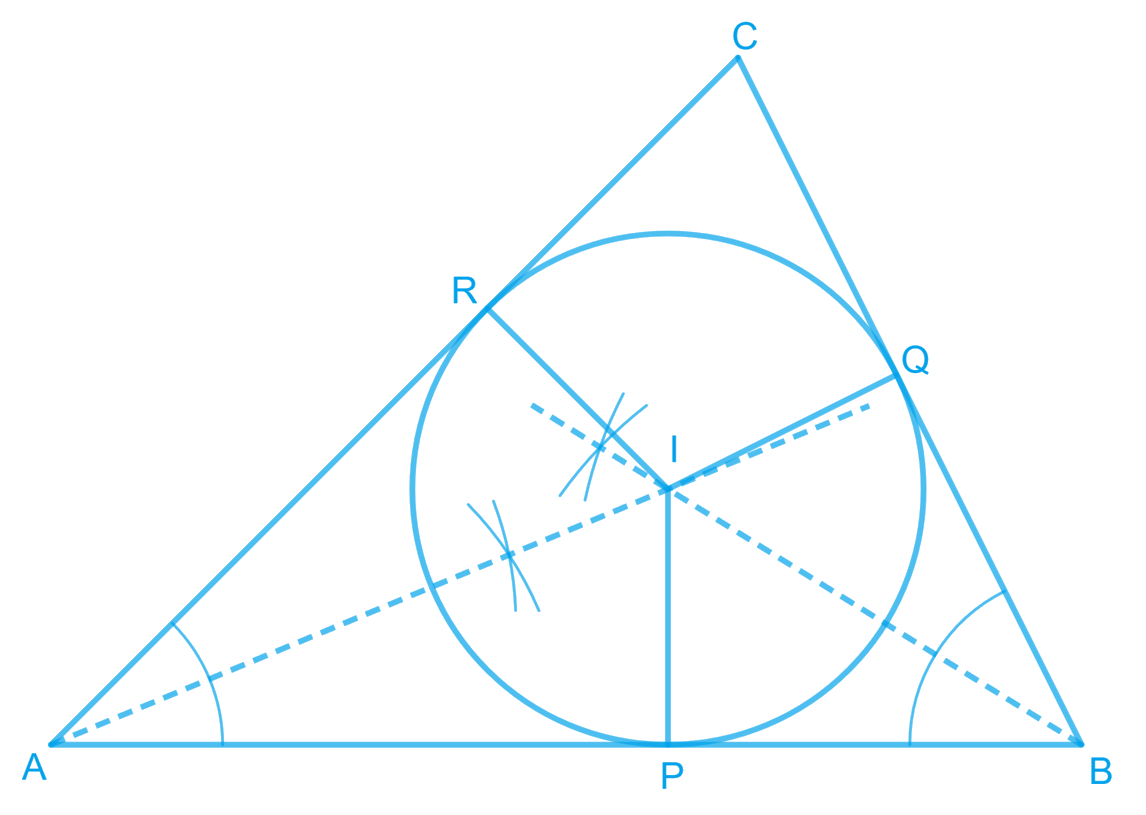 In a triangle locate a point in its interior which is equidistant from all the sides of the triangle