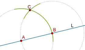 Intersection of arcs