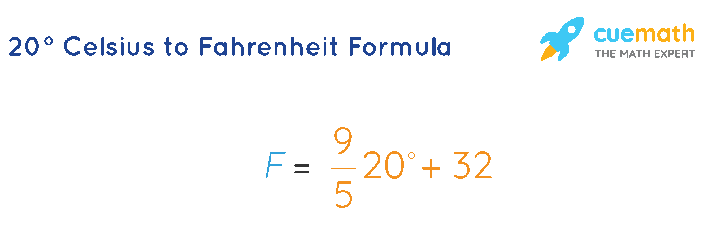 20º Celsius to Fahrenheit Formula