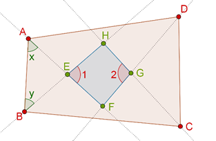 Quadrilateral and internal angle bisectors