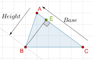 Triangles - Height perpendicular to base