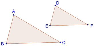 Areas of similar triangles are proportional