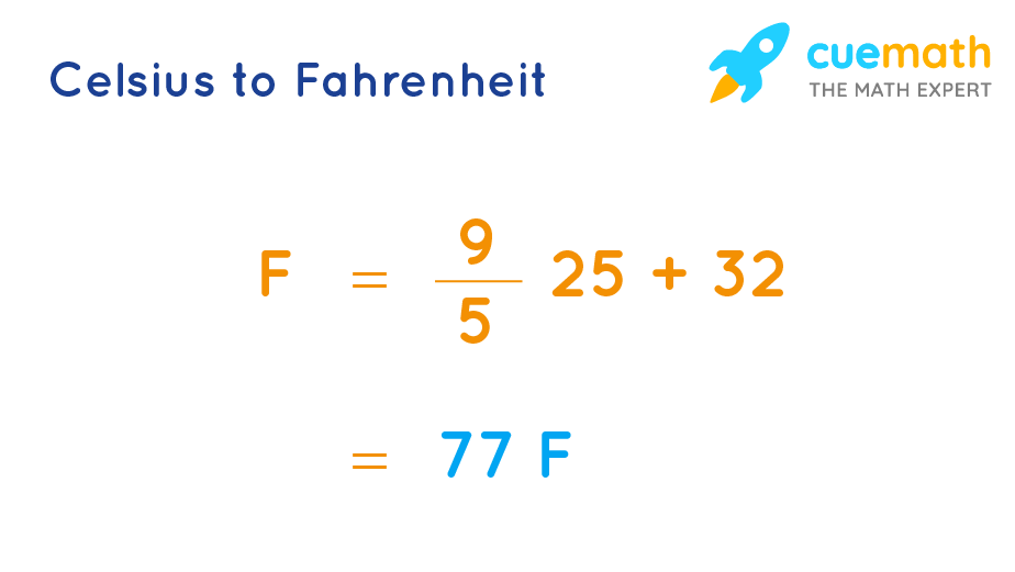 25º Celsius to Fahrenheit Formula