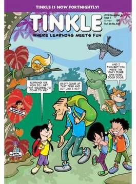 Tinkle magazine cover page
