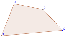 Quadrilateral with unequal sides