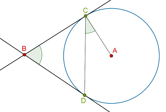 Circle, radius, two tangents and chord