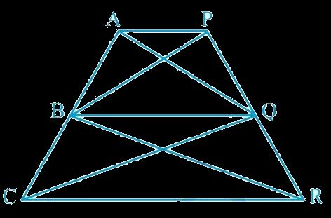 In Fig.9.28, AP || BQ || CR. Prove that ar (AQC) = ar (PBR)