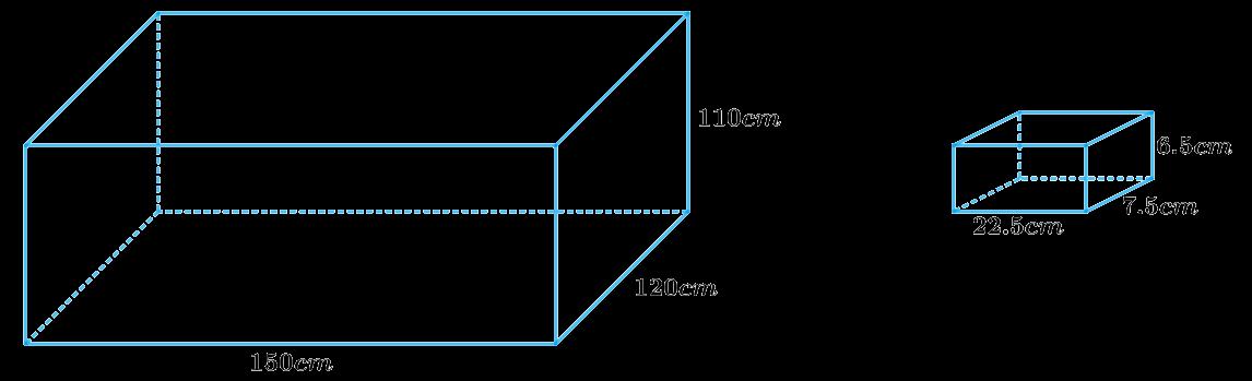 A cistern, internally measuring 150 cm