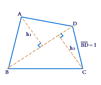 Area of arbitrary quadrilateral