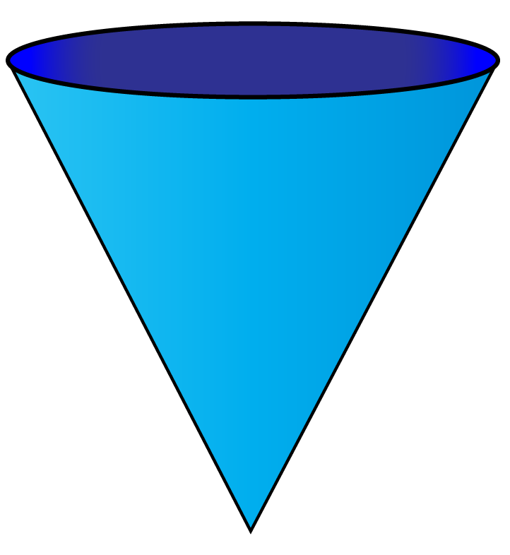 cone is a 3d shape of triangle
